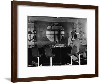 Airport Bar--Framed Photographic Print