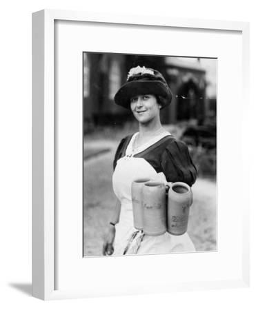 Bar Maid--Framed Photographic Print