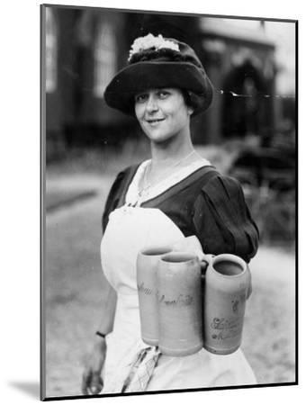 Bar Maid--Mounted Photographic Print