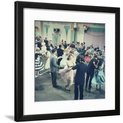Teenage Couples (15-18) Dancing at Party--Framed Photographic Print