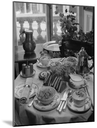 Breakfast Table-Chaloner Woods-Mounted Photographic Print