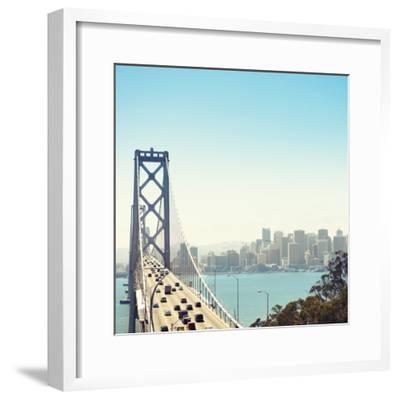 San Francisco Bay Bridge and Rush Hour Traffic-franckreporter-Framed Photographic Print