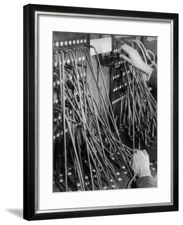 Telegraph Operation-Chaloner Woods-Framed Photographic Print