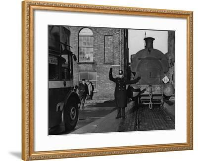 Traffic Cop--Framed Photographic Print