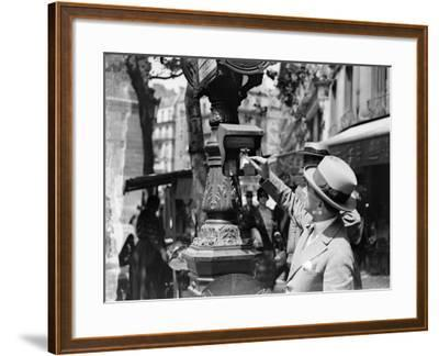 Bus Ticket--Framed Photographic Print