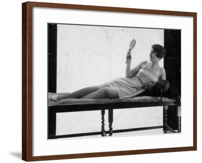 Hand Mirror--Framed Photographic Print