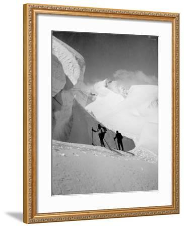 Skiers--Framed Photographic Print
