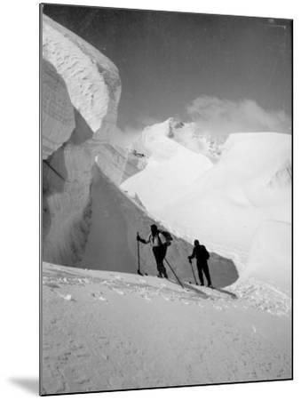 Skiers--Mounted Photographic Print