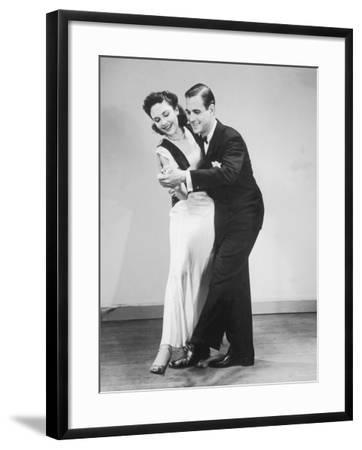 Couple in Formal Wear Dancing--Framed Photographic Print