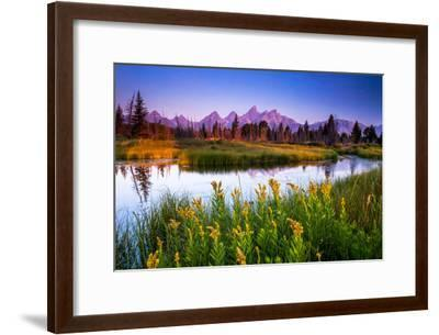 Teton Sunrise-Steve Burns-Framed Photographic Print