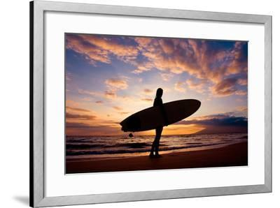 Sunset Surfer-The Sweets-Framed Photographic Print