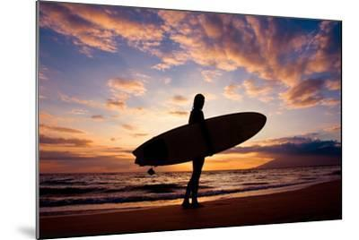 Sunset Surfer-The Sweets-Mounted Photographic Print
