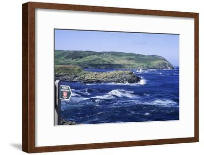 Manx Footpath Sign, Symbol, Overlooking Coast-Neil Holmes-Framed Photographic Print