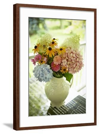 Fresh Cut Flowers in Vase, Bradford, Ontario, Canada-Shannon Ross-Framed Photographic Print