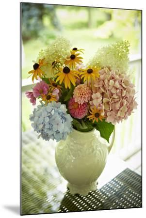 Fresh Cut Flowers in Vase, Bradford, Ontario, Canada-Shannon Ross-Mounted Photographic Print