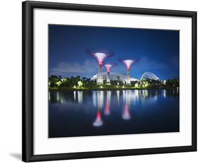 Singapore Garden by Bay Super-Trees-Tomatoskin-Framed Photographic Print