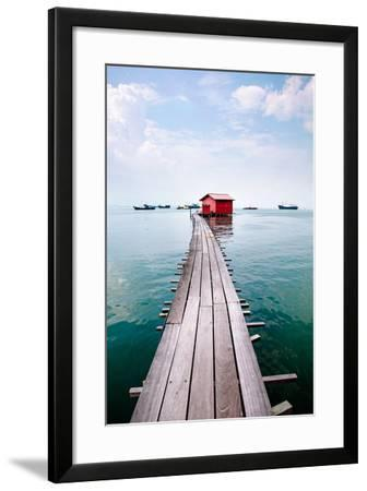 Clan Jetty Boardwalk, Penang-Will Tan-Framed Photographic Print