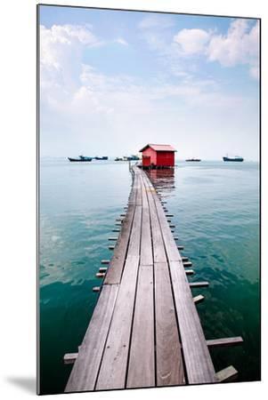 Clan Jetty Boardwalk, Penang-Will Tan-Mounted Photographic Print