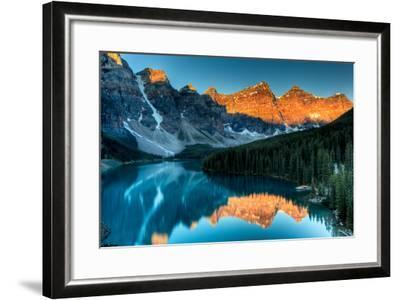 Moraine Lake Sunrise-Andrey Popov-Framed Photographic Print