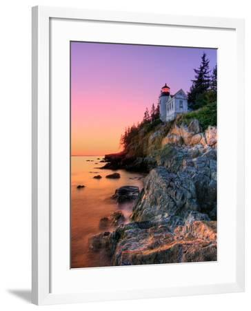 Pastel Bass Harbor Lighthouse-Kevin A Scherer-Framed Photographic Print