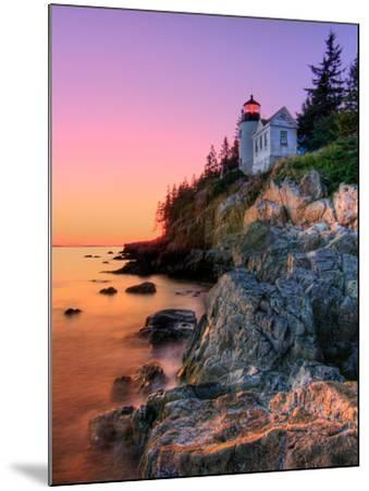 Pastel Bass Harbor Lighthouse-Kevin A Scherer-Mounted Photographic Print