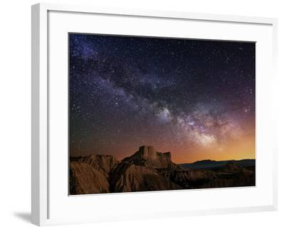 Milky Way over the Desert-Inigo Cia-Framed Photographic Print