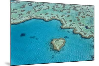 Heart Reef, Part of Great Barrier Reef, Australia-Peter Adams-Mounted Photographic Print
