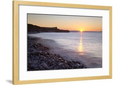 Sunset at Kilve Beach, Somerset.-Nick Cable-Framed Photographic Print