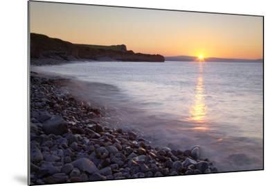 Sunset at Kilve Beach, Somerset.-Nick Cable-Mounted Photographic Print