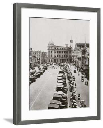 Raffles Place-Spencer Arnold-Framed Photographic Print