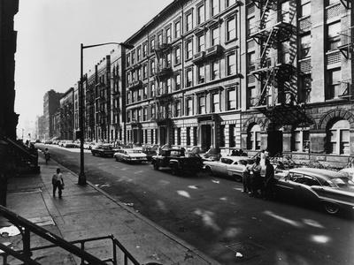 122Nd Street Harlem-Frederic Lewis-Framed Photographic Print