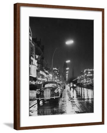 Kurfurstendamm at Night-Pictorial Parade-Framed Photographic Print