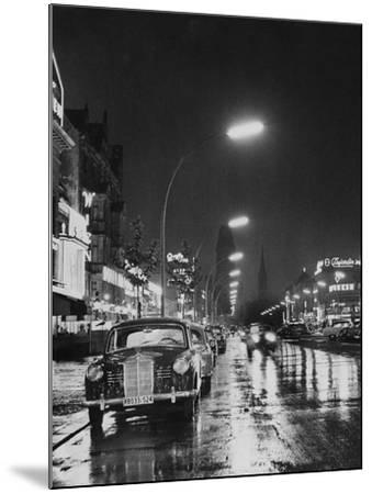 Kurfurstendamm at Night-Pictorial Parade-Mounted Photographic Print