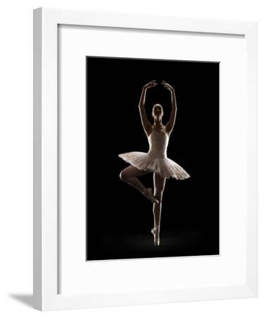 Ballerina in Releve Pose-Lewis Mulatero-Framed Photographic Print