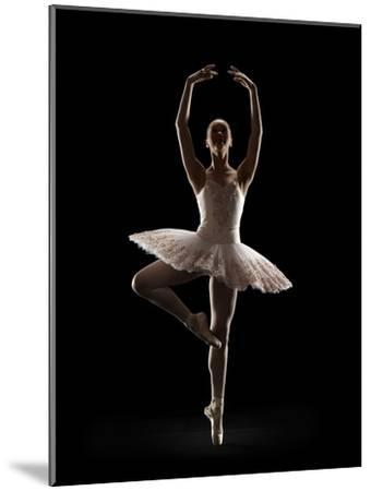 Ballerina in Releve Pose-Lewis Mulatero-Mounted Photographic Print