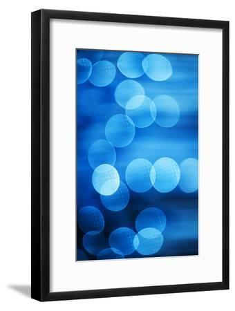 Abstract Blue Spots of Light-Brian Stablyk-Framed Photographic Print