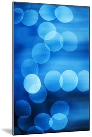 Abstract Blue Spots of Light-Brian Stablyk-Mounted Photographic Print