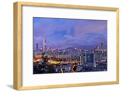 Shenzhen Skyline Panorama-jalvaran-Framed Photographic Print