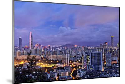 Shenzhen Skyline Panorama-jalvaran-Mounted Photographic Print