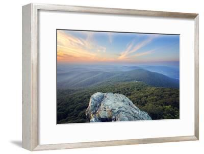 Humpback Rock Sunset-Malcolm MacGregor-Framed Photographic Print