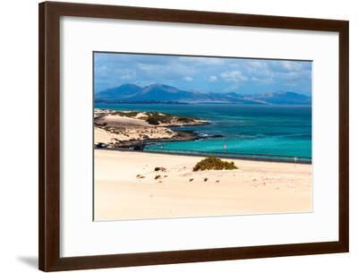 Atlantic Green and Blue Sea-Photo by A.Vallecillos-Framed Photographic Print