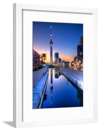 Tokyo Sky Tree Sunset Reflection-Image Provided by Duane Walker-Framed Photographic Print