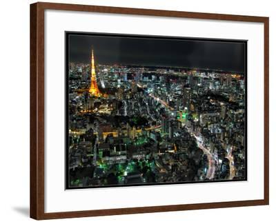 Tokyo Night View-Mikedie-Framed Photographic Print