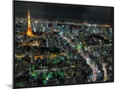 Tokyo Night View-Mikedie-Mounted Photographic Print