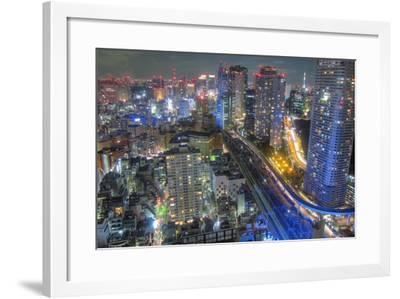 Night View of Tokyo-Takashi Fujimori-Framed Photographic Print