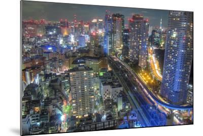 Night View of Tokyo-Takashi Fujimori-Mounted Photographic Print