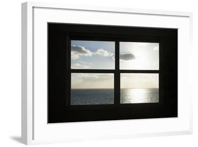 Miami Beach. Art Deco Window over the Ocean.-Buena Vista Images-Framed Photographic Print