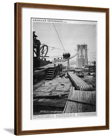 Brooklyn Bridge-Hulton Archive-Framed Photographic Print