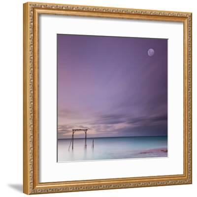 Heron Island Gantry-Bruce Hood-Framed Photographic Print