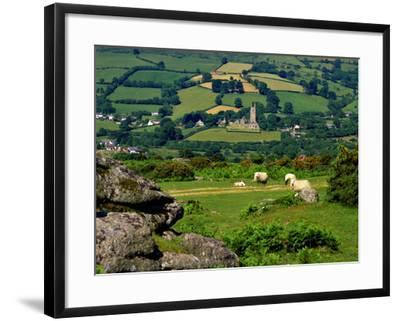 Widecombe in the Moor, Dartmoor, National Park, Devon, England, Uk. Widecombe in the Moor is Situat-Philip Fenton Lrps-Framed Photographic Print